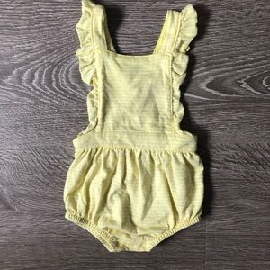 Yellow striped overall bloomers